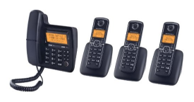 Motorola DECT 6.0 Corded Base Phone with Cordless Handset Digital Answering System and Eco Mode L704CM